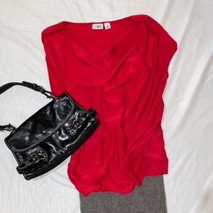 Scoopneck Blouse in great dark Hot Pink/Red
